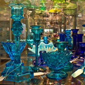 West Virginia Museum of American Glass along Route 33 in Lewis County, West Virginia